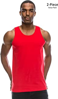 48606f9098ee6e JC DISTRO Mens Basic Solid Tank Top Jersey Casual Shirts (Size Upto 3XL