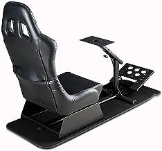 Dishot Driving Cockpit - Asiento de carreras con soportes para volante y pedales - Asiento de simulación para PS4, Xbox One, PC, PS3