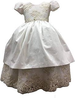 Faithclover Christening Outfit Boys Newnorn Toddler Formal Set Long Overcoat Gown
