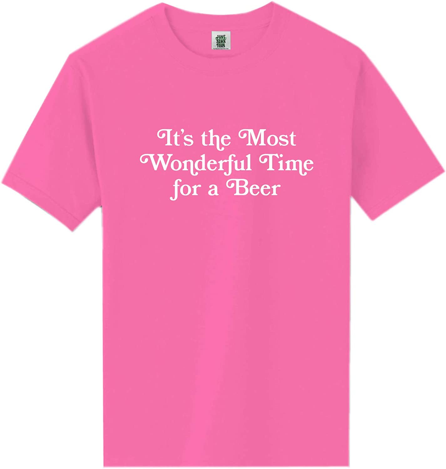 It's The Most Wonderful Time Neon Pink Short Sleeve T-Shirt - XX-Large