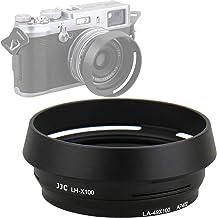 JJC LH-JX100 BLACK Metal Lens Hood/ 49mm Filter Adapter Ring for Fujifilm X70 X100 X100S X100T X100F X100V, Fuji X100S, Fuji X100F, Fuji X100V Lense Hood Shade, Fujifilm LH-X100 Lens Hood Replacement