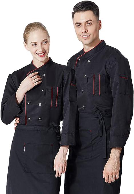 Camisa de Cocinero Cocina Uniforme Manga Larga Colores ...