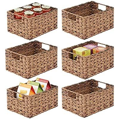 mDesign Woven Ombre Pantry Bin Basket, 6 Pack from