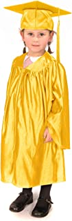 Children's Graduation Gowns (Age 3-5) and Matching Cap (Shiny Look)