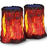 TomCare Solar Lights Dancing Flame Solar Lantern Outdoor Lighting Decorative Lanterns Solar Powered Heavy Duty Waterproof LED Lights for Garden Patio Pathway Deck Yard, 2 Pack
