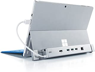 サンワダイレクト Surface用 ドッキングステーション Surface Pro6/Pro4/Pro3/Pro2/Surface3/新Surface Pro(2017)専用 HDMI USB3.0 ×3ポート 有線LAN 400-HUB039S2