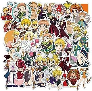 50PCS/Set Anime The Seven Deadly Sins Stickers Vinyl for Children DIY Guitar Laptop Stationery Skateboard Classic Toys Sti...