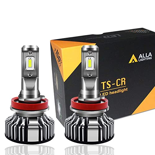 Alla Lighting 10000lm LED H11 Headlight Bulbs or Fog Lights (Not both) Extremely Super