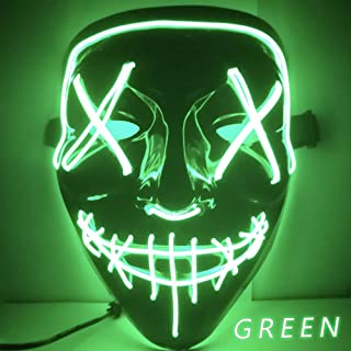 Halloween LED Light up Festival Cosplay Costume Supplies Party Masks Glow in Dark
