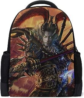 Lu Bu Dynasty Warriors 8 Warrior Armor Spear Bookbag School Backpack Luggage Travel Sport Bag