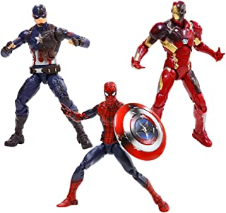 Marvel 6-Inch Legends Captain America: Civil War Action Figure 3 Pack (Spider-Man, Captain America, and Iron Man Mark 46)