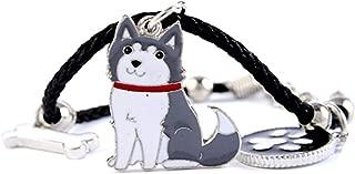 Charm Bracelets for Women Girls Men Rope Chain Silver Color Dog Pendant Male Female Bracelet