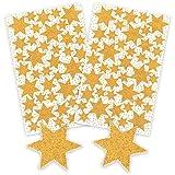 AVERY Zweckform Art. 52225 Aufkleber Weihnachten 85 Sterne (Weihnachtssticker, glitzernd, Papier,...