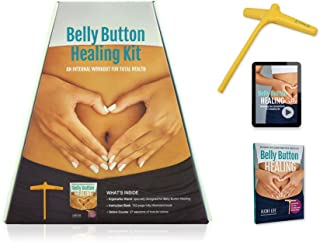 HSP Belly Button Healing Kit for Stress Relief, Pain Relief, Gut Health and More Energy (Self-Acupressure Tool, Video Instruction Access Code, Book)