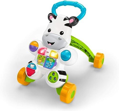 Fisher Price Zebra Primi Passi Spingibile, Giocattolo Elettronico Educativo con Musica e Suoni, per Bambini di 6 + Me...