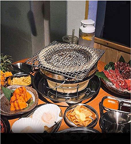 61oATweTk5L. SL500  - PULLEY-S Japanisches Essen Grill Netzwerk Grillpfanne in großem Maßstab im Freien Grillclip Gemüse, Rippen und viele andere Lebensmittel S