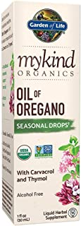Garden of Life mykind Organics Oil of Oregano Seasonal Drops 1 fl oz (30 mL) Liquid, Concentrated Plant Based Immune Support - Alcohol Free, Organic, Non-GMO, Vegan & Gluten Free Herbal Supplements