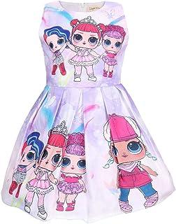 LATLONG ガールズ サプライズ ドールLOL 女の子ドレス Lol Surprise Doll キッズ ノースリーブ ワンピース 可愛い スカート プリーツドレス 28