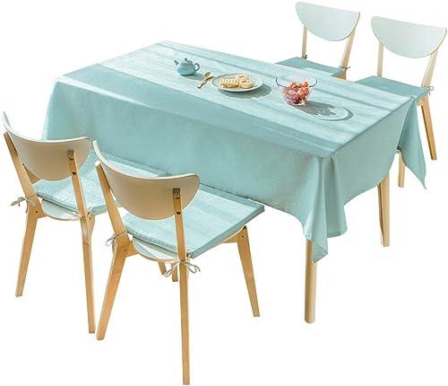 KaiGangHome Tischdecken Europ che Wasserdichte   e Teetischdecke einfarbige Wegwerftischdecke rechteckige Wohnzimmertischdecke blau einfach zu säubern (Farbe   Blau, Größe   130  180cm)
