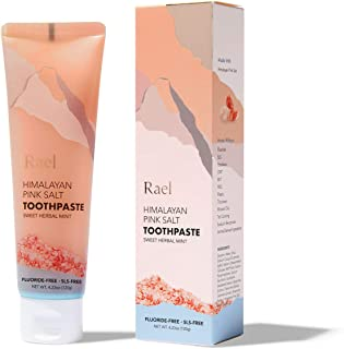 Sponsored Ad - Rael Himalayan Pink Salt Toothpaste - Natural, Vegan, Paraben-Free, Anti-Cavity, Fresh Breath, Oral Care, F...