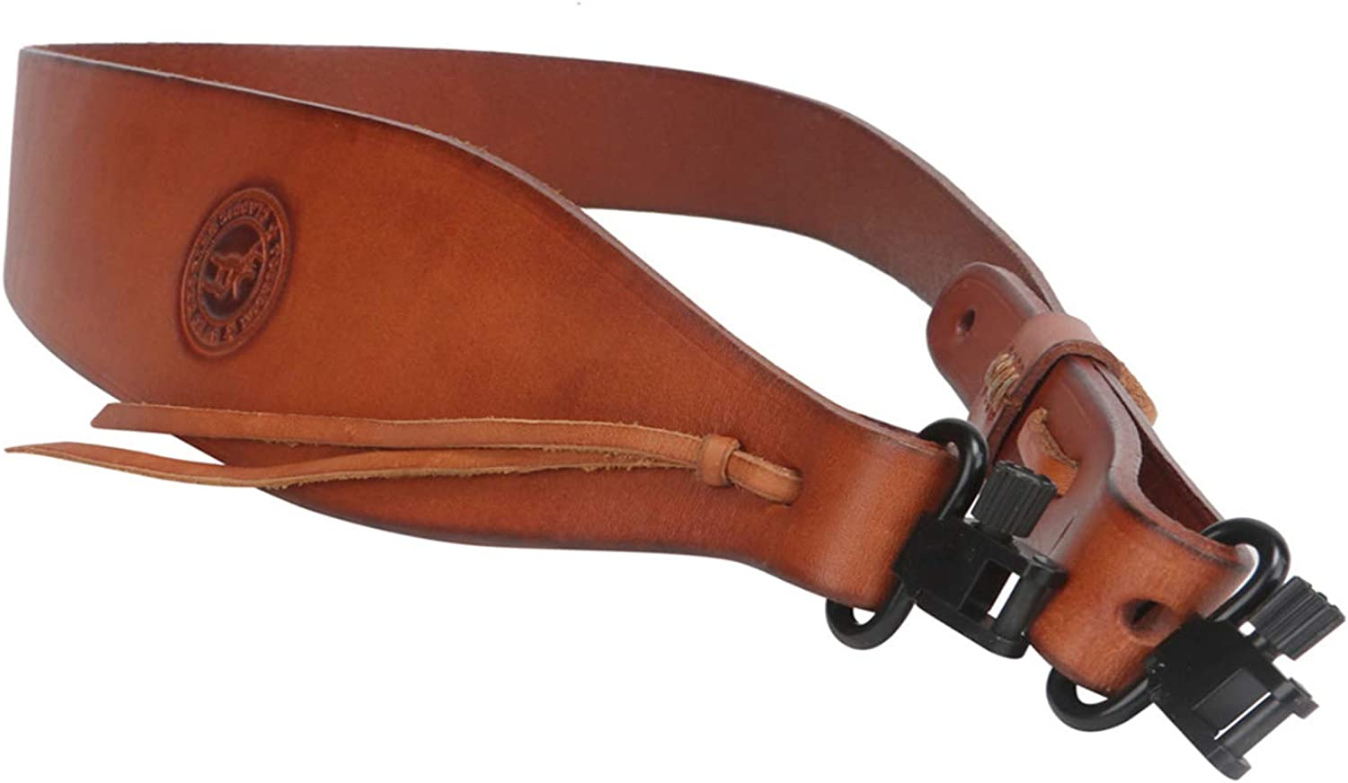 Tourbon Hunting Deluxe Vintage Genuine Leather Rifle Gun Sling with Swivels