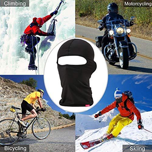 Balaclava Face Mask, Adjustable Windproof Ski Mask Women & Men, Headwear Neck Warmer for Skiing,Cycling,Motorcycle,Hiking,Outdoor Sports, Lycra Fabrics UV Protection Tactical Balaclava (2 Pack) Black