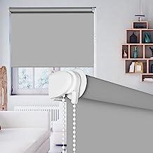SEEYE 100% Blackout Waterproof Fabric Window Roller Shades Blind, Thermal Insulated Darkening Cordless Living Room,Bathroo...