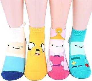 女性 靴下 セット Adventure Time Character Sneakers Socks With Finn and Jake