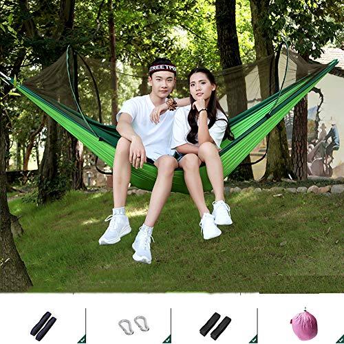 Hangmat, Anti-Rollover, Anti-Mosquito Bites, RVS karabijnhaak, draagbare, comfortabel en ademend, geschikt voor Outdoor Camping en Toerisme