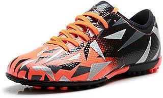Tiebao Unisexo Niños Adulto con Cordones Caucho Tacos Zapatos de Fútbol Botas para el Suelo Artificial Duro Interior