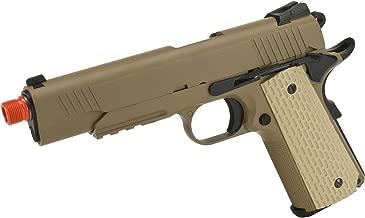 Evike - WE-USA NG3 Metal 1911 Desert Warrior Railed Frame Heavy Weight Airsoft Gas Blowback Pistol - (33152)