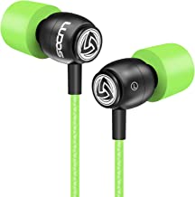 LUDOS Clamor Wired Earbuds in Ear Headphones with Microphone, Earphones with New Generation Memory Foam, Reinforced Cable, Bass, Volume Control Compatible with iPhone, Apple, Samsung, Sony, Huawei