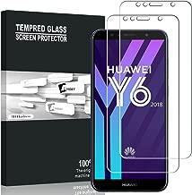 Huawei Y6 2018 Screen Protector, AVIDET 9H Hardness Premium Tempered Glass Screen Protector for Huawei Y6 2018 (2-Pack)