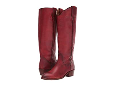 Frye Carson Pull-On (Crimson Leather) Cowboy Boots