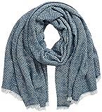 APART Fashion Herringbone Shawl Bufanda para clima frío, Jeans Blue, 0 para Mujer