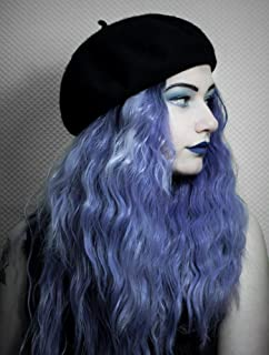 Goodyard Lavender Dawn Synthetic Lace Front Wigs, Ombre Purple Color Wig Loose Curl For Party or Costume, Can be Restyled and Heated