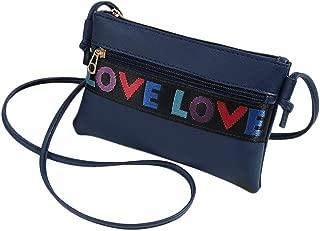 ZSYUNI Crossbody Bag Women Letter Shoulder Bag Messenger Satchel Shoulder Packet Handbags Waist Bag Rucksack Tote Bag