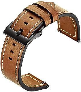 سوار ساعة سامسونج جير S3 من الجلد الطبيعي, بني