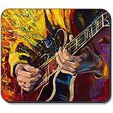 Alfombrilla Gruesa - Pintura Guitarrista Jazz