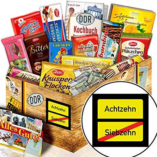 Ortsschild 18 / Schokoladen Ossi Paket XL / lustige Geschenke 18. Geburtstag