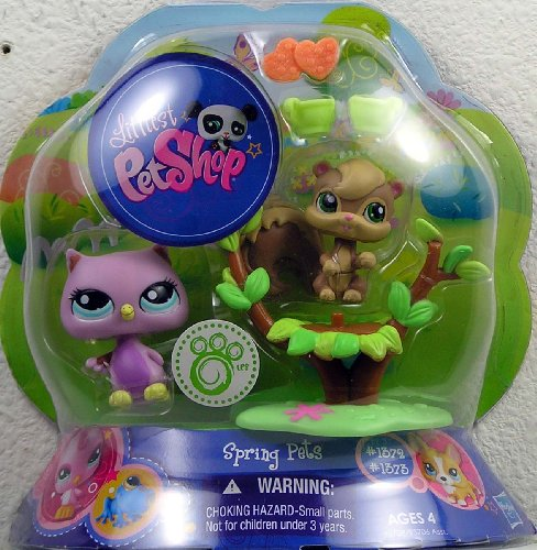Littlest Pet Shop Spring Pets Pair Owl & Squirrel