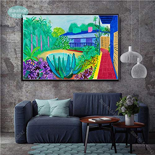Frameloos David Hockney A Bigger Splashist Custom Hot Nieuwe Poster Top Canvas Schilderij Home Decor Muurafdrukken Posters en Prints <> 50x75cm