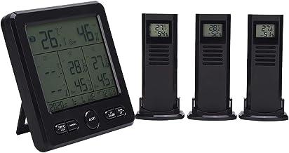 Sensor meteorológico, pantalla ℃ / ℉ Estación meteorológica, pantalla LCD Carga USB digital para medición de humedad Medición de temperatura