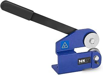 Para Piezas De Hasta 610 mm De Ancho y Grosor De 0,8 mm, Rodillos De Acero Endurecido MSW Curvadora De Chapa Dobladora Para Metal MSW-SR610