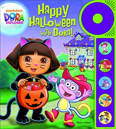 Happy Halloween with Dora Explorer Play A Sound Book & Buttons Doorbell NEW