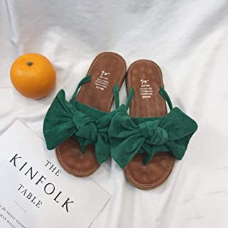 Summer sandals Beach FLIP Flop Pool Shoes,Women's wear non-slip sandals-pink_36,Slippers Soft Slide Flat EVA Sandals flip flop (Color : Green, Size : UK4.5)