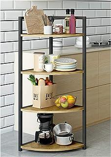 KOKOF Étagère de plancher multi-couches d'angle d'angle d'angle pour mettre la vaisselle, les casseroles, les fournitures ...