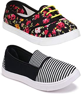 Shoefly Women Multicolour Latest Collection Sneakers Shoes- Pack of 2 (Combo-(2)-11022-611)