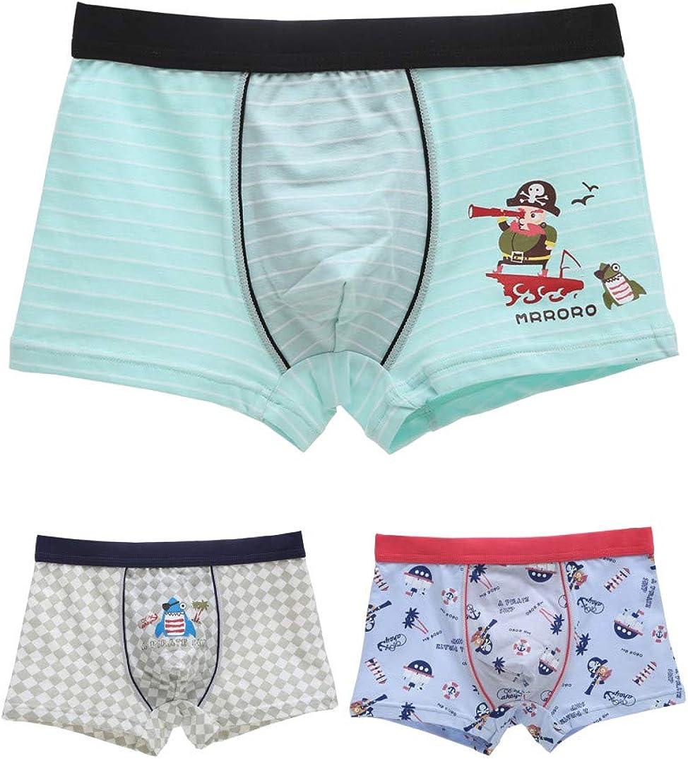 Sawanica Boys Boxer Shorts Cotton Briefs Dinosaur Pattern