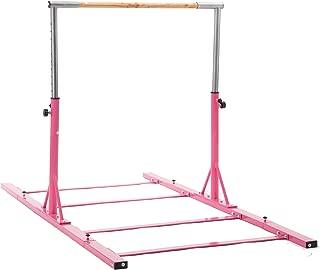 Usexport Gymastics Junior Traning Horizontal Bar Expandable Kip Bar Adjustable Height Fitness Equipment for Home